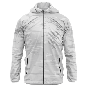 Greater Half Men's Coat Small / White Arctic We The People Rain Jacket