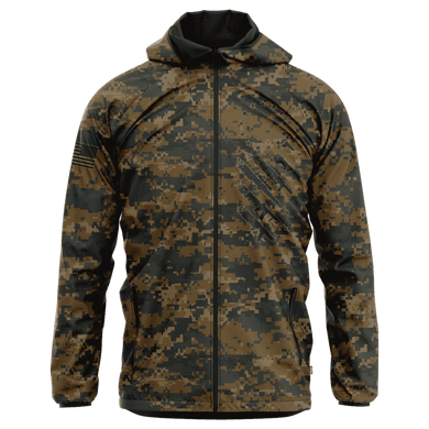 Greater Half Men's Coat Small / Woodland Digital Camo Woodland Digital Camo We The People Rain Jacket