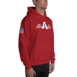 Load image into Gallery viewer, American Patriots Apparel Men's Hoodie American Patriots Apparel Logo Hoodie With Reverse Side Flag on Right Sleeve (8 Variants)
