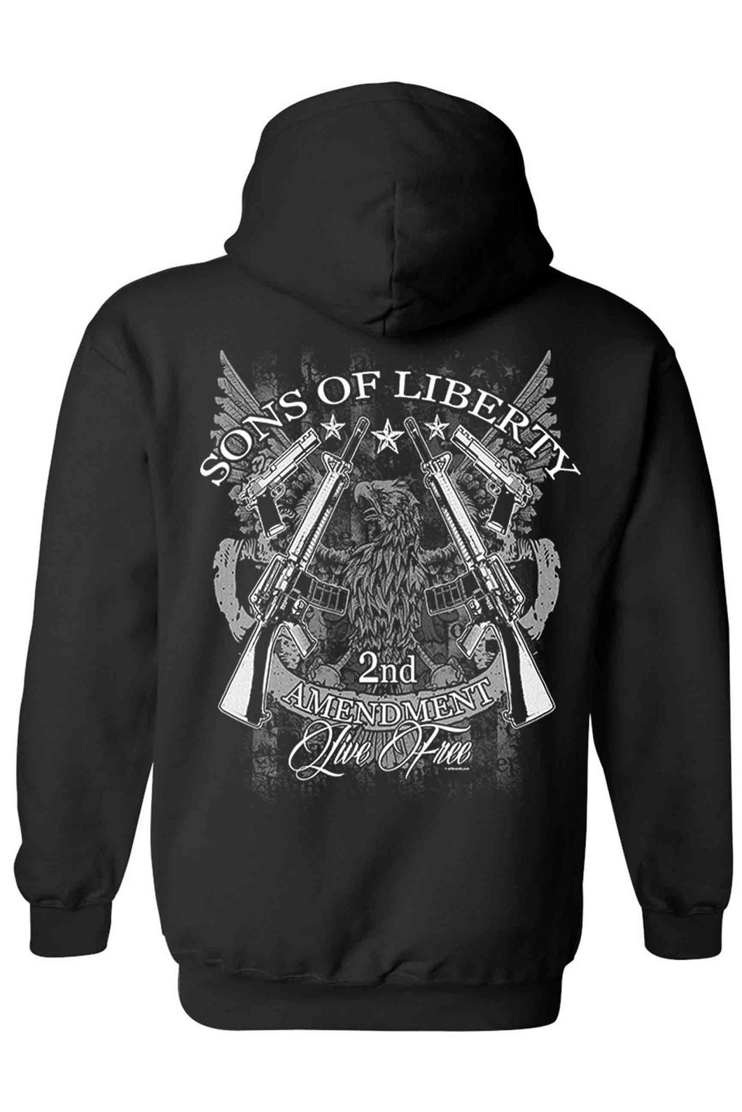 Shore Trendz Men's Hoodie BLACK / 3XL Sons of Liberty 2nd Amendment Unisex Zip Up Hoodie (3 Variants)