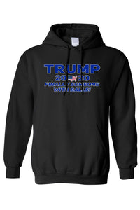 American Patriots Apparel Men's Hoodie Black / 5XL / FRONT Trump 2020 Finally Someone With Balls Pullover Hoodie (4 Variants)