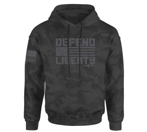 Howitzer Clothing Men's Hoodie Black Camo / S Defend Liberty Co Po Hood