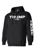 Load image into Gallery viewer, American Patriots Apparel Men's Hoodie Black / M / FRONT & LEFT SLEEVE Trump 2020 (Front and Left Sleeve) Pullover Hoodie (2 Variants)