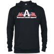 Load image into Gallery viewer, CustomCat Men's Hoodie Black / X-Small American Patriots Apparel Logo With Text Delta French Terry Hoodie (11 Variants)