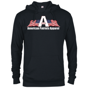 CustomCat Men's Hoodie Black / X-Small American Patriots Apparel Logo With Text Delta French Terry Hoodie (11 Variants)