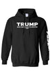 Load image into Gallery viewer, American Patriots Apparel Men's Hoodie Black / XLARGE / FRONT Trump Make America Even Greater 2020 Pullover Hoodie With Trump On Left Sleeve (2 Variants)