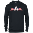 Load image into Gallery viewer, CustomCat Men's Hoodie Black / XS American Patriots Apparel Logo Delta French Terry Hoodie (11 Variants)