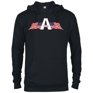 CustomCat Men's Hoodie Black / XS American Patriots Apparel Logo Delta French Terry Hoodie (11 Variants)
