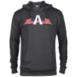 Load image into Gallery viewer, CustomCat Men's Hoodie Charcoal Heather / XS American Patriots Apparel Logo Delta French Terry Hoodie (11 Variants)