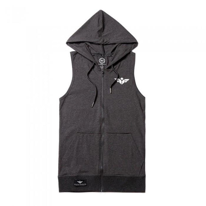 FLEX-N-FLEX SLEEVELESS ZIPPER HOODIE (2 Variants) - American Patriots Apparel