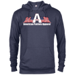 Load image into Gallery viewer, CustomCat Men's Hoodie Denim Heather / X-Small American Patriots Apparel Logo With Text Delta French Terry Hoodie (11 Variants)