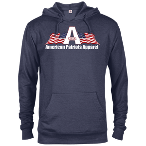 CustomCat Men's Hoodie Denim Heather / X-Small American Patriots Apparel Logo With Text Delta French Terry Hoodie (11 Variants)