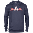 Load image into Gallery viewer, CustomCat Men's Hoodie Denim Heather / XS American Patriots Apparel Logo Delta French Terry Hoodie (11 Variants)