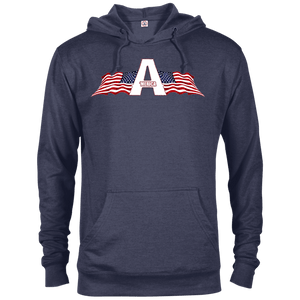 CustomCat Men's Hoodie Denim Heather / XS American Patriots Apparel Logo Delta French Terry Hoodie (11 Variants)