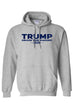 Load image into Gallery viewer, American Patriots Apparel Men's Hoodie FRONT / Grey / 3XL TRUMP DRAIN THE SWAMP 2020 Pullover Hoodie (2 Variants)