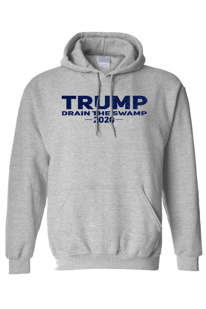 American Patriots Apparel Men's Hoodie FRONT / Grey / 3XL TRUMP DRAIN THE SWAMP 2020 Pullover Hoodie (2 Variants)