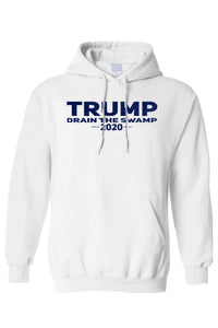 American Patriots Apparel Men's Hoodie FRONT / White / MEDIUM TRUMP DRAIN THE SWAMP 2020 Pullover Hoodie (2 Variants)