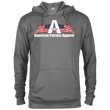 Load image into Gallery viewer, CustomCat Men's Hoodie Graphite Heather / X-Small American Patriots Apparel Logo With Text Delta French Terry Hoodie (11 Variants)