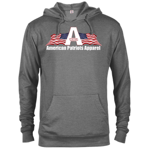 CustomCat Men's Hoodie Graphite Heather / X-Small American Patriots Apparel Logo With Text Delta French Terry Hoodie (11 Variants)