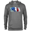 Load image into Gallery viewer, CustomCat Men's Hoodie Graphite Heather / X-Small USA Statue of Liberty Delta French Terry Hoodie (11 Variants)