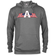 Load image into Gallery viewer, CustomCat Men's Hoodie Graphite Heather / XS American Patriots Apparel Logo Delta French Terry Hoodie (11 Variants)