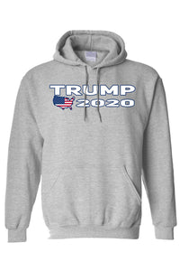 American Patriots Apparel Men's Hoodie Grey / 3XL / FRONT Trump USA 2020 Pullover Hoodie (4 Variants)