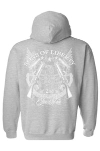 Shore Trendz Men's Hoodie GREY / 4XL Sons of Liberty 2nd Amendment Unisex Zip Up Hoodie (3 Variants)