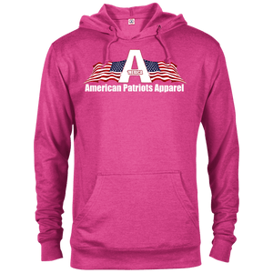 CustomCat Men's Hoodie Heliconia Heather / X-Small American Patriots Apparel Logo With Text Delta French Terry Hoodie (11 Variants)