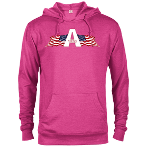 CustomCat Men's Hoodie Heliconia Heather / XS American Patriots Apparel Logo Delta French Terry Hoodie (11 Variants)