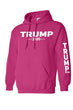 Load image into Gallery viewer, American Patriots Apparel Men's Hoodie HotPink / 3XL / FRONT & LEFT SLEEVE Trump 2020 (Front and Left Sleeve) Pullover Hoodie (2 Variants)