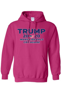 American Patriots Apparel Men's Hoodie HotPink / 5XL / FRONT Trump 2020 Make Liberals Cry Again Pullover Hoodie (4 Variants)