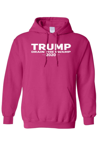 American Patriots Apparel Men's Hoodie HotPink / XL / FRONT Trump Drain The Swamp 2020 Pullover Hoodie (3 Variants)