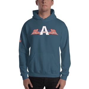 American Patriots Apparel Logo Hoodie With Reverse Side Flag on Right Sleeve (8 Variants) - American Patriots Apparel