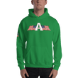 Load image into Gallery viewer, American Patriots Apparel Men's Hoodie Irish Green / S American Patriots Apparel Logo Hoodie With Reverse Side Flag on Right Sleeve (8 Variants)