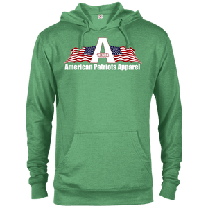 CustomCat Men's Hoodie Kelly Heather / X-Small American Patriots Apparel Logo With Text Delta French Terry Hoodie (11 Variants)