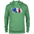Load image into Gallery viewer, CustomCat Men's Hoodie Kelly Heather / X-Small USA Statue of Liberty Delta French Terry Hoodie (11 Variants)