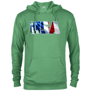 CustomCat Men's Hoodie Kelly Heather / X-Small USA Statue of Liberty Delta French Terry Hoodie (11 Variants)