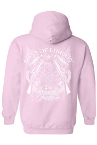 Shore Trendz Men's Hoodie LIGHTPINK / XXL Sons of Liberty 2nd Amendment Unisex Zip Up Hoodie (3 Variants)