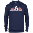 Load image into Gallery viewer, CustomCat Men's Hoodie Navy / X-Small American Patriots Apparel Logo With Text Delta French Terry Hoodie (11 Variants)