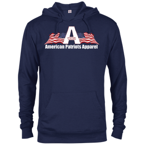 CustomCat Men's Hoodie Navy / X-Small American Patriots Apparel Logo With Text Delta French Terry Hoodie (11 Variants)