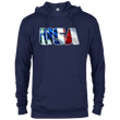 Load image into Gallery viewer, CustomCat Men's Hoodie Navy / X-Small USA Statue of Liberty Delta French Terry Hoodie (11 Variants)