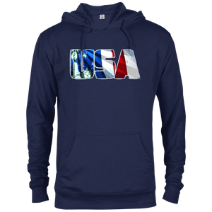 CustomCat Men's Hoodie Navy / X-Small USA Statue of Liberty Delta French Terry Hoodie (11 Variants)