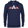 Load image into Gallery viewer, CustomCat Men's Hoodie Navy / XS American Patriots Apparel Logo Delta French Terry Hoodie (11 Variants)