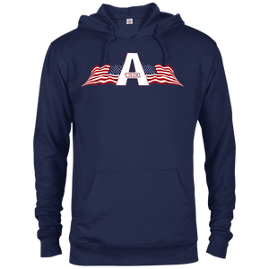CustomCat Men's Hoodie Navy / XS American Patriots Apparel Logo Delta French Terry Hoodie (11 Variants)