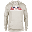Load image into Gallery viewer, CustomCat Men's Hoodie Oatmeal Heather / X-Small American Patriots Apparel Logo With Text Delta French Terry Hoodie (11 Variants)