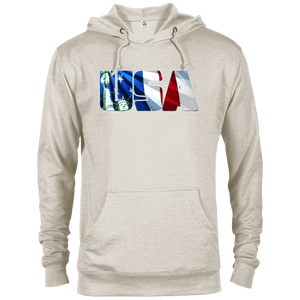 CustomCat Men's Hoodie Oatmeal Heather / X-Small USA Statue of Liberty Delta French Terry Hoodie (11 Variants)