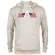 Load image into Gallery viewer, CustomCat Men's Hoodie Oatmeal Heather / XS American Patriots Apparel Logo Delta French Terry Hoodie (11 Variants)