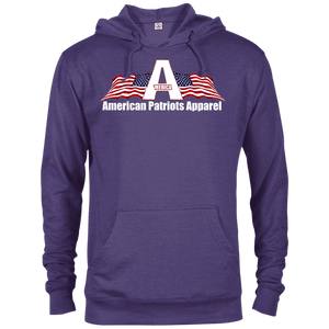 CustomCat Men's Hoodie Purple Heather / X-Small American Patriots Apparel Logo With Text Delta French Terry Hoodie (11 Variants)