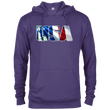 Load image into Gallery viewer, CustomCat Men's Hoodie Purple Heather / X-Small USA Statue of Liberty Delta French Terry Hoodie (11 Variants)