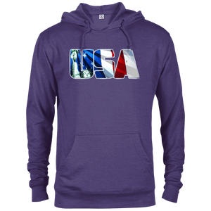 CustomCat Men's Hoodie Purple Heather / X-Small USA Statue of Liberty Delta French Terry Hoodie (11 Variants)